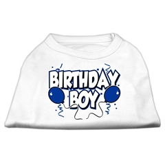 Mirage Pet Products Birthday Boy Screen Print Shirts White Med (12)