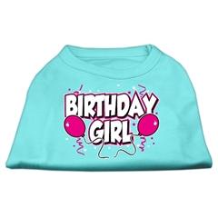 Mirage Pet Products Birthday Girl Screen Print Shirts Aqua Lg (14)