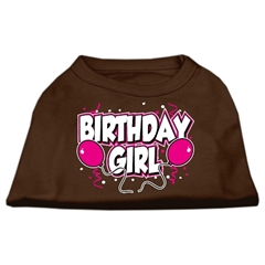 Mirage Pet Products Birthday Girl Screen Print Shirts Brown Lg (14)