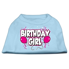 Mirage Pet Products Birthday Girl Screen Print Shirts Baby Blue XL (16)