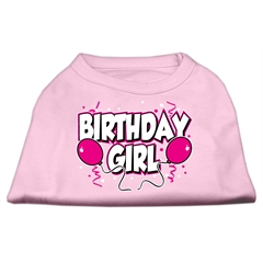 Mirage Pet Products Birthday Girl Screen Print Shirts Light Pink XL (16)