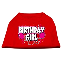 Mirage Pet Products Birthday Girl Screen Print Shirts Red XS (8)