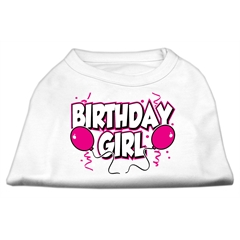 Mirage Pet Products Birthday Girl Screen Print Shirts White XXL (18)