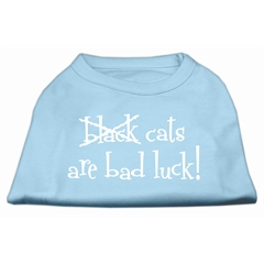 Mirage Pet Products Black Cats are Bad Luck Screen Print Shirt Baby Blue M (12)