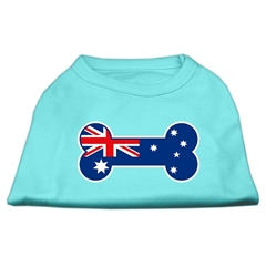 Mirage Pet Products Bone Shaped Australian Flag Screen Print Shirts Aqua XXL (18)