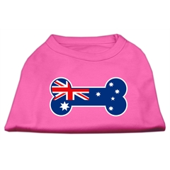 Mirage Pet Products Bone Shaped Australian Flag Screen Print Shirts Bright Pink XL (16)