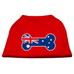 Mirage Pet Products Bone Shaped Australian Flag Screen Print Shirts Red XXL (18)