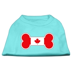Mirage Pet Products Bone Shaped Canadian Flag Screen Print Shirts Aqua XL (16)