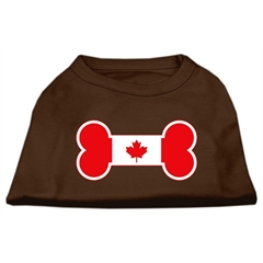 Mirage Pet Products Bone Shaped Canadian Flag Screen Print Shirts Brown Med (12)