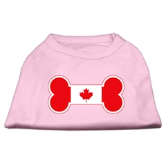 Mirage Pet Products Bone Shaped Canadian Flag Screen Print Shirts Light Pink L (14)
