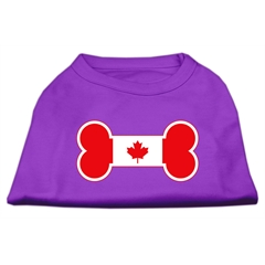 Mirage Pet Products Bone Shaped Canadian Flag Screen Print Shirts Purple M (12)