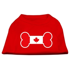 Mirage Pet Products Bone Shaped Canadian Flag Screen Print Shirts Red XS (8)