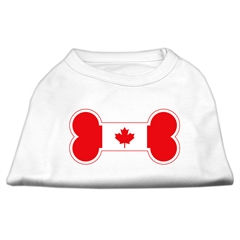 Mirage Pet Products Bone Shaped Canadian Flag Screen Print Shirts White S (10)
