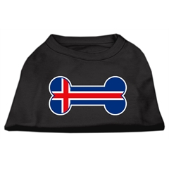 Mirage Pet Products Bone Shaped Iceland Flag Screen Print Shirts Black XXL (18)