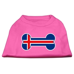 Mirage Pet Products Bone Shaped Iceland Flag Screen Print Shirts Bright Pink XL (16)