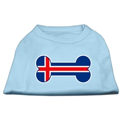 Mirage Pet Products Bone Shaped Iceland Flag Screen Print Shirts Baby Blue M (12)