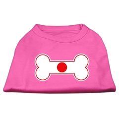Mirage Pet Products Bone Shaped Japan Flag Screen Print Shirts Bright Pink M (12)