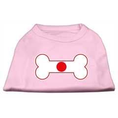 Mirage Pet Products Bone Shaped Japan Flag Screen Print Shirts Light Pink S (10)