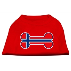 Mirage Pet Products Bone Shaped Norway Flag Screen Print Shirts Red XXL (18)