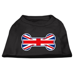 Mirage Pet Products Bone Shaped United Kingdom (Union Jack) Flag Screen Print Shirts Black M (12)