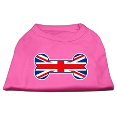 Mirage Pet Products Bone Shaped United Kingdom (Union Jack) Flag Screen Print Shirts Bright Pink M (12)
