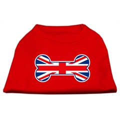 Mirage Pet Products Bone Shaped United Kingdom (Union Jack) Flag Screen Print Shirts Red S (10)