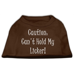 Mirage Pet Products Can't Hold My Licker Screen Print Shirts Brown XS (8)