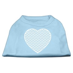 Mirage Pet Products Chevron Heart Screen Print Dog Shirt Baby Blue Lg (14)