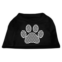 Mirage Pet Products Chevron Paw Screen Print Shirt Black  Lg (14)