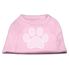 Mirage Pet Products Chevron Paw Screen Print Shirt Light Pink Sm (10)