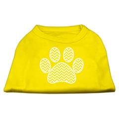Mirage Pet Products Chevron Paw Screen Print Shirt Yellow XS (8)