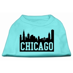 Mirage Pet Products Chicago Skyline Screen Print Shirt Aqua XXXL (20)