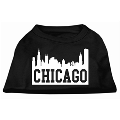 Mirage Pet Products Chicago Skyline Screen Print Shirt Black Med (12)
