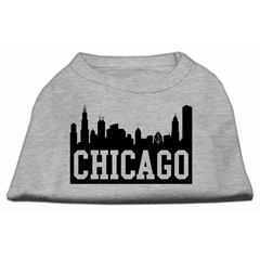 Mirage Pet Products Chicago Skyline Screen Print Shirt Grey XXL (18)