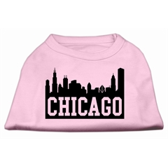 Mirage Pet Products Chicago Skyline Screen Print Shirt Light Pink Lg (14)