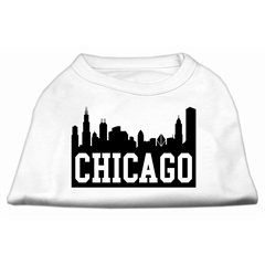 Mirage Pet Products Chicago Skyline Screen Print Shirt White XXXL (20)