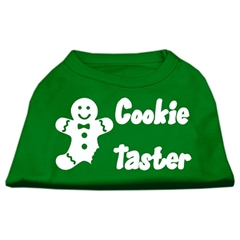 Mirage Pet Products Cookie Taster Screen Print Shirts Emerald Green XS (8)