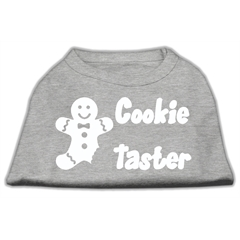 Mirage Pet Products Cookie Taster Screen Print Shirts Grey Sm (10)