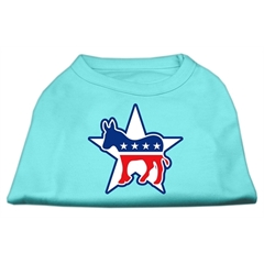 Mirage Pet Products Democrat Screen Print Shirts Aqua M (12)