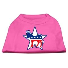 Mirage Pet Products Democrat Screen Print Shirts Bright Pink XXL (18)