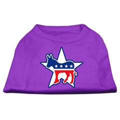 Mirage Pet Products Democrat Screen Print Shirts Purple XXXL(20)