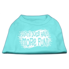 Mirage Pet Products Dirty Dogs Screen Print Shirt Aqua XL (16)