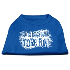 Mirage Pet Products Dirty Dogs Screen Print Shirt Blue XL (16)