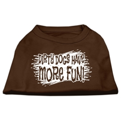 Mirage Pet Products Dirty Dogs Screen Print Shirt Brown Sm (10)