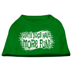 Mirage Pet Products Dirty Dogs Screen Print Shirt Emerald Green XXL (18)