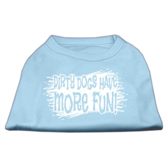 Mirage Pet Products Dirty Dogs Screen Print Shirt Baby Blue Lg (14)