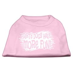 Mirage Pet Products Dirty Dogs Screen Print Shirt Light Pink Lg (14)
