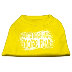 Mirage Pet Products Dirty Dogs Screen Print Shirt Yellow Med (12)