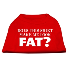 Mirage Pet Products Does This Shirt Make Me Look Fat? Screen Printed Shirt Red XXXL (20)