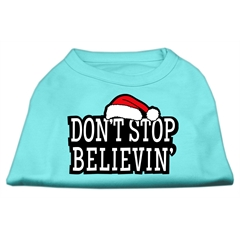 Mirage Pet Products Don't Stop Believin' Screenprint Shirts Aqua XXXL (20)